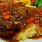 Aunt Ida's Hamburger Steak with Onion Pepper Gravy