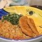 Tuscan Mashed Chickpeas w/ Garlicky Kale Salad & Gardein Patty