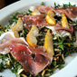 Pear, Parmesan & Prosciutto Salad with Strawberry Balsamic Dressing