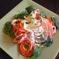 Tri-Color Raw Noodle Salad w/ Creamy Hot'n'Sweet Dressing