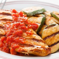 Grilled Chicken with Red Pepper Harissa
