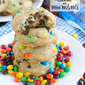 Coconut Oil (No Butter!) Chocolate Chip Cookies with Mini M&M's