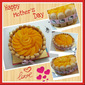 Vanilla & Chocolate layers Sponge Cake with Peach toppings & Sponge Fingers