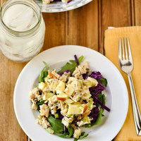 Chicken and Wild Rice Salad with Arugula