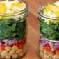 Clean Eating Spinach Salad Jars