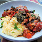 Goat Cheese Polenta with Turkey & Vegetable Ragout