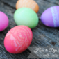 How to Dye Eggs with Lace