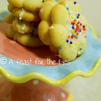 "Italian-Style ""Easter"" Cream Cheese Spritz Cookies"