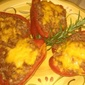 Red Bell Peppers Stuffed with Beans and Rice