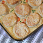 Chicken Pot Pie with Cream Cheese Biscuits