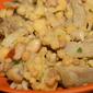 Fregola sarda con cicerchie, carciofi, pancetta e peperoncino cayenna