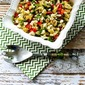 Roasted Cauliflower Salad with Feta, Capers, Red Bell Pepper, and Green Onion (Low-Carb, Gluten-Free)