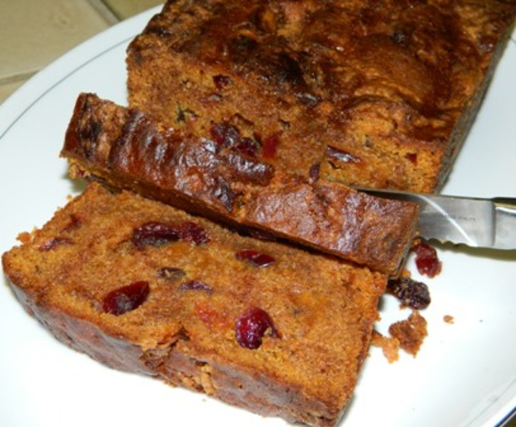 Sweet Potato Bread with Cranberries