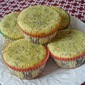 Lemon Poppy Seeds Muffins with Lemon Glaze
