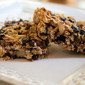Homemade Granola Bars with Almonds, Dried Fruit and Dark Chocolate Chips