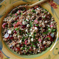 Couscous Salad with Pickled Rhubarb, Feta, and Grapes