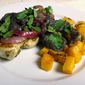 Grilled Lime-Chicken with Black Bean Sauce and Squash