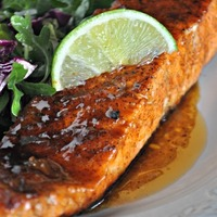 Sweet and Spicy Orange-Glazed Salmon