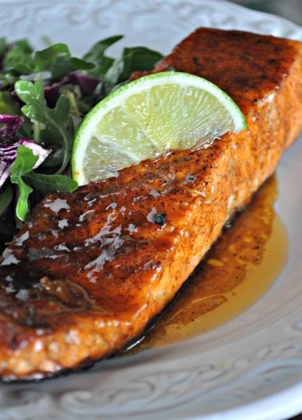 Sweet and Spicy Orange-Glazed Salmon