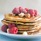 Raspberry Oatmeal Pancakes #Brunchweek