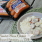 Family Night Grilling Recipe: Smoked Bacon Cheddar Scalloped Potatoes on the Grill