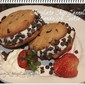 Chocolate Chip Cannoli Sandwich Cookie