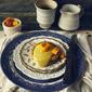 {Gluten Free) Pancakes with Mango Curd