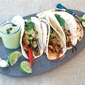 Portobello Fajitas with Roasted Poblano Cream Sauce