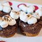 Peanut Butter S'mores Brownies Bites