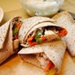Grilled Chicken and Vegetable Wraps with Garlicky Ranch Sauce