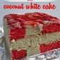 Red Velvet and Coconut White Cake for Eurovision