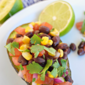 Black Bean Salsa-Stuffed Avocados