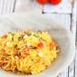 Caprese Spaghetti Squash Recipe with Roasted Tomatoes {Vegetarian}