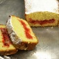 Polenta and Rhubarb Slices