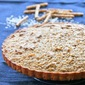 Almond Butter Coconut and Pretzel Cookie Tart