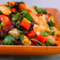 Shrimp and Black Bean Salad with Cilantro, Cumin, and Lime (Gluten-Free)