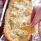 Easy Cheesy Artichoke Dip in a Baguette