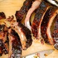 Smoked Ribs with Spiced Maple Barbecue Sauce