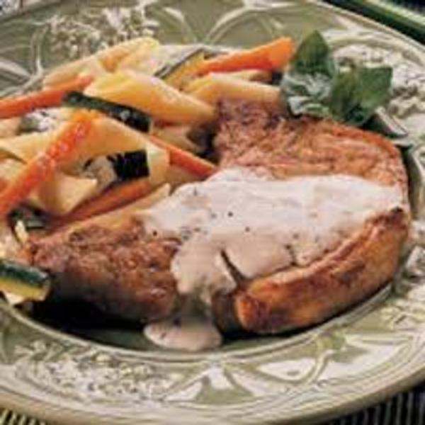 Pork Chops with Herb Pan Gravy