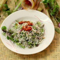 Nasi Ulam (Steamed Rice with Asian Herbs)