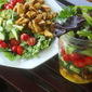 Chicken Shawarma Salad with Garlic Lemon Dressing
