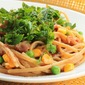 Linguine With Pancetta, Peas, Corn, and Mint
