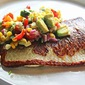 Pan-Fried cod With Corn, Avocado, and Basil Relish