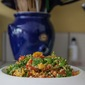 A Keeper For Summer Weekends, Roasted Pepper Salad With Peanut Dressing.