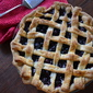 Blueberry Pie with a Lattice Crust
