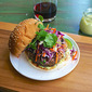 Lemongrass Beef And Shrimp Burger