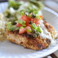 panko crusted fish with key lime butter sauce