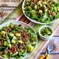 Green Chile Turkey Taco Salad with Peppers and Avocado (Paleo, Low-Carb, Gluten Free)