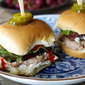 Buffalo, Bacon and Blue Cheese Turkey Sliders
