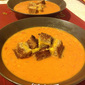 Tomato & Orzo Soup with Grilled Cheese Croutons
